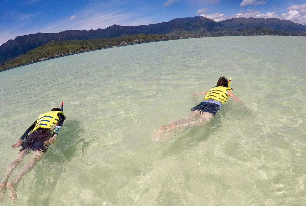 Private Snorkel at Sandbar Oahu