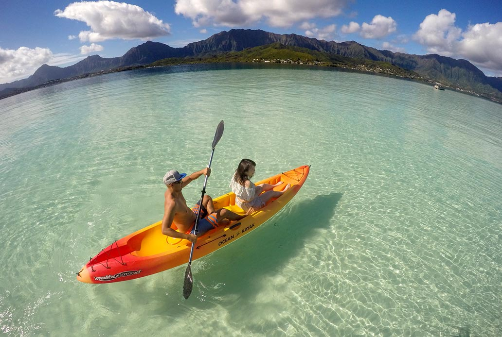 Private Kayak at Sandbar Oahu