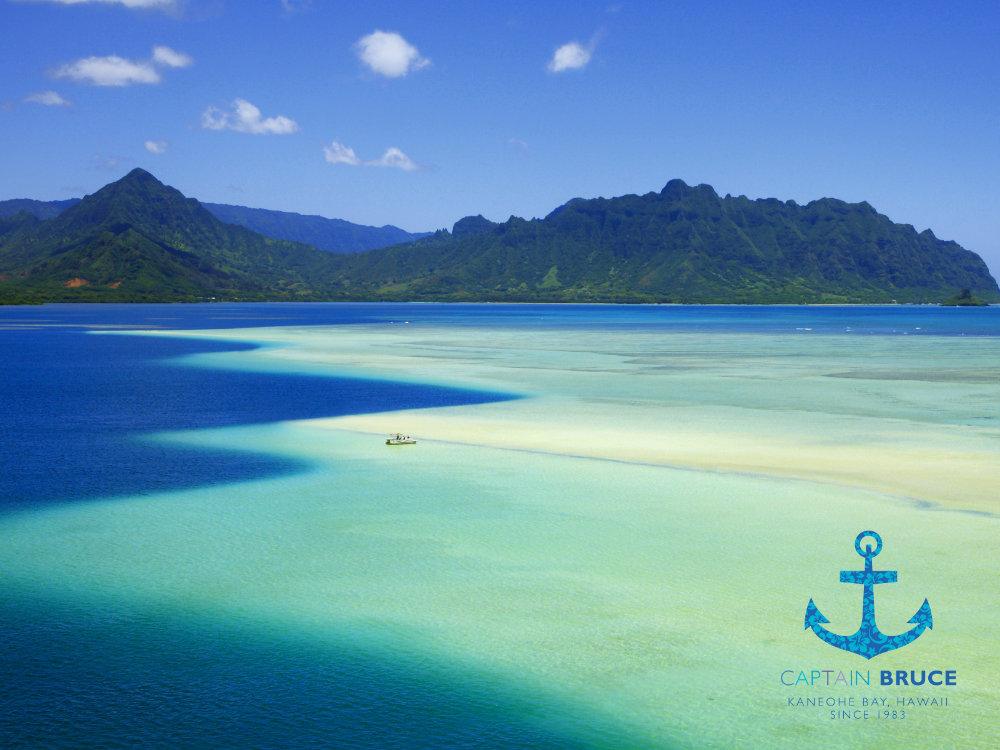 Sandbar tour at Kaneohe Bay, Hawaii